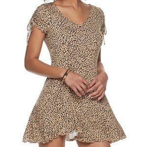 Love Fire Cheetah Print Dress